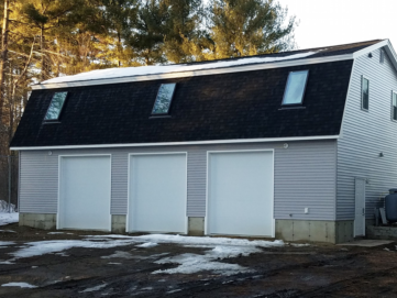 3 car garage with office above nh